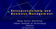 Entrepreneurship and Business Management powerpoint presentation