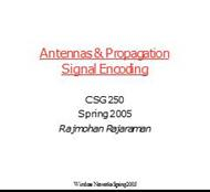 Antennas & Propagation Signal Encoding powerpoint presentation