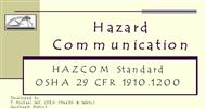 Hazard Communication powerpoint presentation