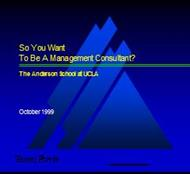So You Want To Be A Management Consultant? powerpoint presentation
