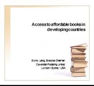 Access to affordable books in developing countries powerpoint presentation