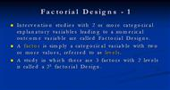 Factorial Designs - 1 powerpoint presentation