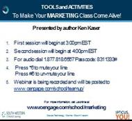 TOOLS and ACTIVITIES : To Make Your MARKETING Class Come Alive! powerpoint presentation