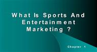 What Is Sports And Entertainment Marketing ? powerpoint presentation