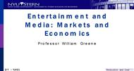Entertainment and Media: Markets and Economics powerpoint presentation