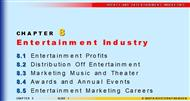 CHAPTER 8 : Entertainment Industry powerpoint presentation