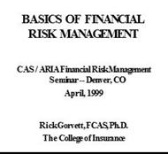 BASICS OF FINANCIAL RISK MANAGEMENT powerpoint presentation