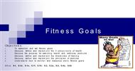 Fitness Goals powerpoint presentation