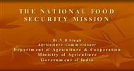THE NATIONAL FOOD SECURITY MISSION powerpoint presentation