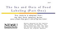 The Ins and Outs of Food Labeling (Part One) powerpoint presentation