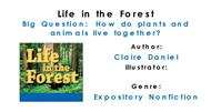 Life in the Forest powerpoint presentation