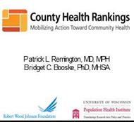 COUNTY HEALTH RANKING powerpoint presentation
