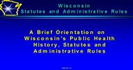 Wisconsin Statutes and Administrative Rules powerpoint presentation