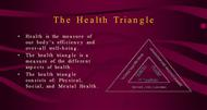 THE HEALTH TRIANGLE powerpoint presentation