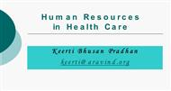 Human Resources in Health Care powerpoint presentation