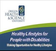HEALTHY LIFESTYLES FOR PEOPLE WITH DISABILITIES powerpoint presentation