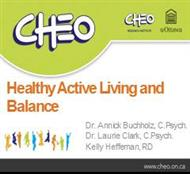 Healthy Active Living and Balance powerpoint presentation
