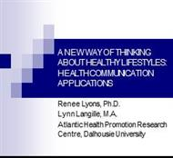 A NEW WAY OF THINKING ABOUT HEALTHY LIFESTYLES powerpoint presentation