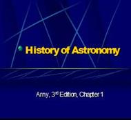 History of Astronomy powerpoint presentation