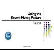 Usingh the Search History Feature powerpoint presentation