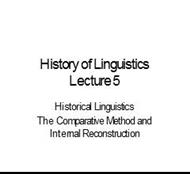 History of Linguistics Lecture 5 powerpoint presentation