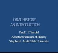 Oral History powerpoint presentation