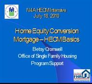 Home Equity Conversion : Mortgage – HECM Basics powerpoint presentation