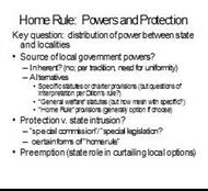 Home Rule: Powers and Protection powerpoint presentation