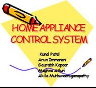 HOME APPLIANCE CONTROL SYSTEM powerpoint presentation