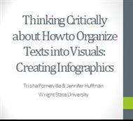 Thinking Critically about How to Organize Texts into Visuals : Creating Infographics powerpoint presentation