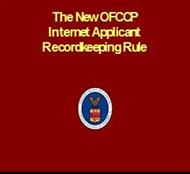The New OFCCP Internet Applicant Recordkeeping Rule powerpoint presentation