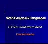 Web Designs & Languages powerpoint presentation