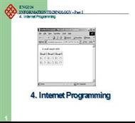Internet Programming powerpoint presentation