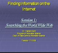 Finding Information on the  Internet Session powerpoint presentation