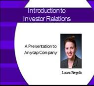 Introduction to Investor Relations powerpoint presentation