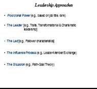 Leadership Approaches powerpoint presentation