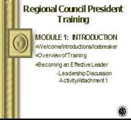 Regional Council President Training powerpoint presentation