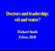 Doctors and leadership: oil and water? powerpoint presentation