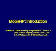 Mobile IP: Introduction powerpoint presentation