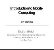 Introduction to Mobile  Computing powerpoint presentation