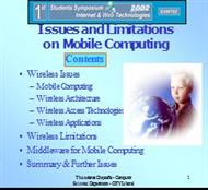 Issues and Limitations on Mobile Computing Contents powerpoint presentation