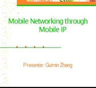 Mobile Networking through Mobile IP powerpoint presentation