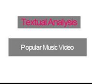 Textual AnalysisPopular Music Video powerpoint presentation