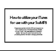 How to utilize your iTunes for use with your SwiMP3 powerpoint presentation