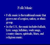 Folk Music powerpoint presentation