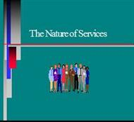 The Nature of Services powerpoint presentation
