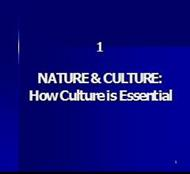 NATURE & CULTURE: How Culture is Essential powerpoint presentation