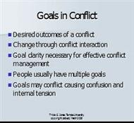 Goals in Conflict powerpoint presentation