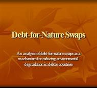 Debt-for-Nature Swaps powerpoint presentation