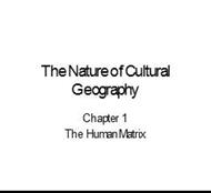chapter 1: The Nature of CulturalGeography powerpoint presentation